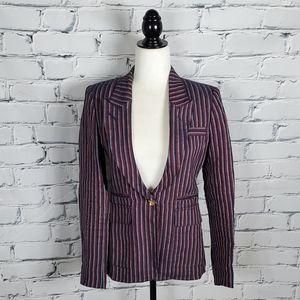 Smythe Red and Blue Stripe Linen Blazer
